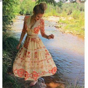 For Love & Lemons Barcelona Crop Top Skirt Set NWT
